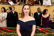 Emilia Clarke Off-the-Shoulder Dress