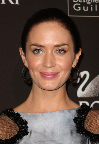 Emily Blunt Gemstone Hoops