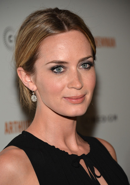 Emily Blunt Twisted Bun