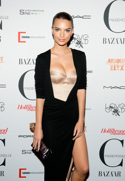 Emily Ratajkowski Sequined Clutch [clothing,dress,shoulder,little black dress,cocktail dress,hairstyle,fashion model,fashion,joint,neck,emily ratajkowski,mademoiselle c,new york,florence gould hall,premiere,new york premiere]