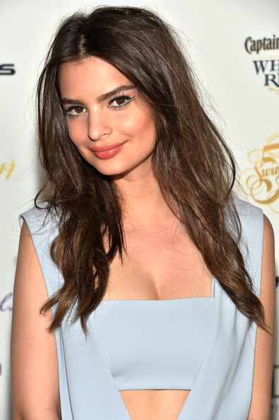 Emily Ratajkowski Teased [sports illustrated,hair,hairstyle,shoulder,clothing,brown hair,long hair,eyebrow,beauty,layered hair,black hair,emily ratajkowski,the gale hotel,miami,florida,swimsuit south beach soiree,sports illustrated swimsuit south beach soiree]