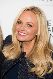Emma Bunton sported a loose hairstyle with wavy ends when she switched on the Christmas lights at the Royal Exchange.