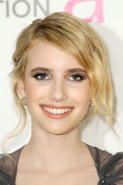Emma Roberts Metallic Eyeshadow