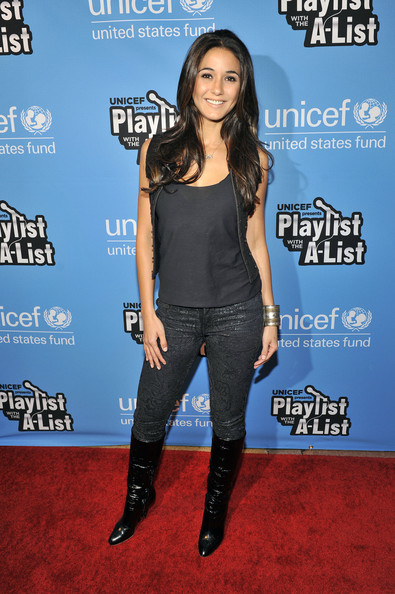 Emmanuelle Chriqui Knee High Boots