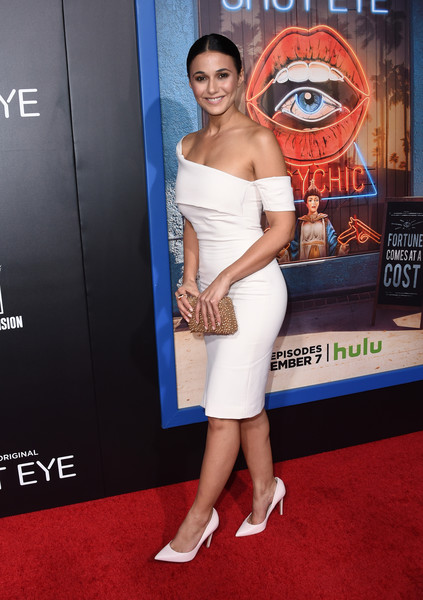 Emmanuelle Chriqui Beaded Clutch