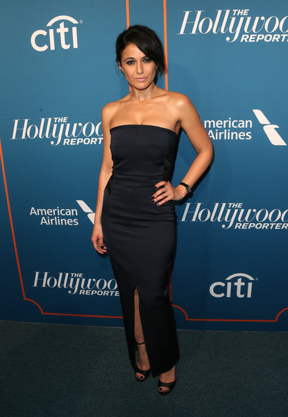 Emmanuelle Chriqui Strapless Dress