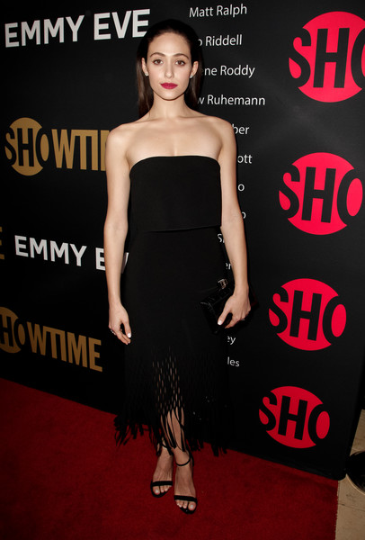 Emmy Rossum Strapless Dress