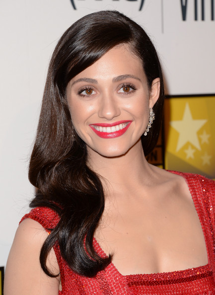 Emmy Rossum Long Side Part