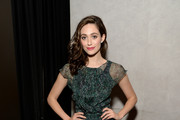Emmy Rossum Print Dress