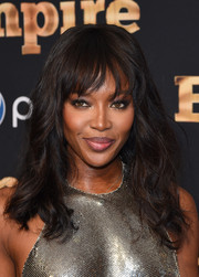 Naomi Campbell looked as fab as ever wearing this youthful wavy 'do with wispy bangs at the 'Empire' season 2 premiere in New York.