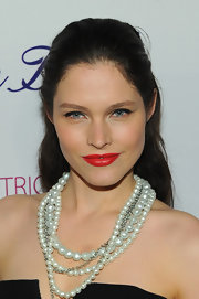 Lonneke Engel attended the Endometriosis Foundation's Blossom Ball wearing a fabulous orange-red lipstick.
