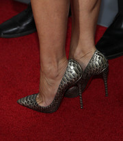 Julia Louis-Dreyfus' ultra-chic silver python pumps almost stole the limelight from every celeb on the 'Enough Said' red carpet.