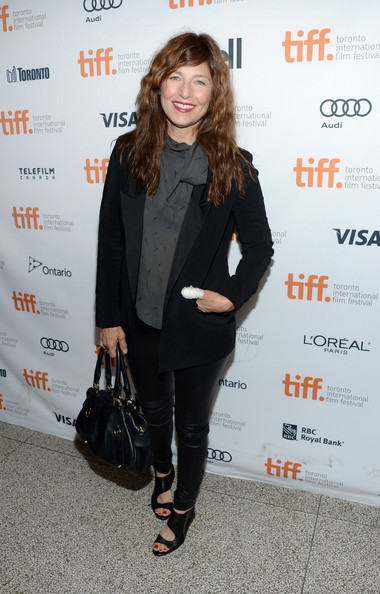 Catherine Keener added a hint of sexiness to her look with a pair of black cutout boots when she attended the 'Enough Said' premiere.