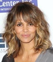 Halle Berry sported mussed-up curls when she attended the Imagine benefit.