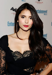 Nina Dobrev wore a pop of classic red lipstick at the 'Entertainment Weekly' 5th Annual Comic-Con Celebration in San Diego.