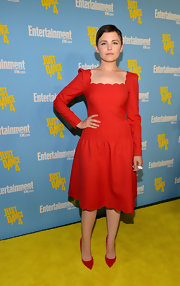 Ginnifer Goodwin was a doll in this scalloped long-sleeve dress in the designer's signature color.