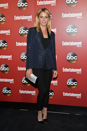Julie Bowen opted for more than just a simple blazer when she wore this navy studded blazer.