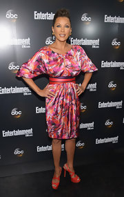 Vanessa Williams wore a sexy pair of cherry red patent leather sandals to the ABC Upfront VIP party.