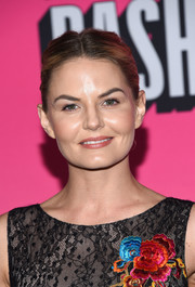 Jennifer Morrison opted for a simple center-parted bun when she attended the Entertainment Weekly Comic-Con party.