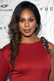 Laverne Cox went for a fairytale-inspired side braid when she attended the Entertainment Weekly SAG nominees celebration.