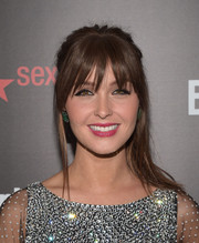 Camilla Luddington sported a retro-with-an-edge half-up 'do at the Entertainment Weekly SAG Awards nominee celebration.
