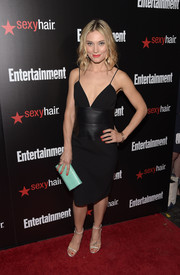 Spencer Grammer kept the sultry vibe going all the way down to her slim-strap sandals.