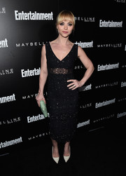 Christina Ricci was classic and sexy in a V-neck eyelet LBD by Marc Jacobs at the Entertainment Weekly celebration honoring the SAG nominees.