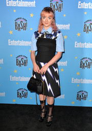 Maisie Williams clashed prints with this lightning-bolt skirt and floral shirt combo by Prada at the Entertainment Weekly Comic-Con celebration.
