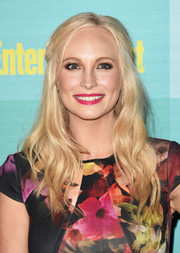 Candice Accola looked sweet wearing this half-up wavy 'do at the Entertainment Weekly Comic-Con party.