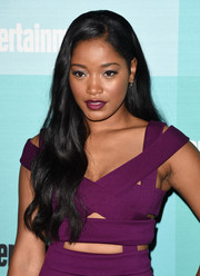 Keke Palmer wore a flowing wavy hairstyle to the Entertainment Weekly Comic-Con party.