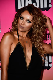 Kat Graham was sexily coiffed with this long curly 'do at the Entertainment Weekly Comic-Con party.