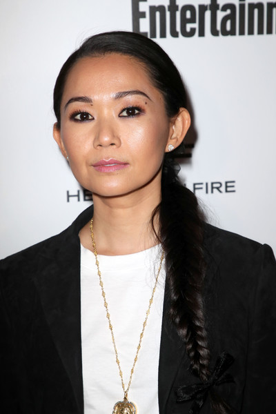 Hong Chau looked youthful wearing this fishtail braid during Entertainment Weekly's SAG Awards nominees celebration.