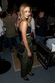 Jamie Chung attended the Entertainment Weekly and Marvel After Dark event carrying a studded, chain-strap fanny pack by Chanel.