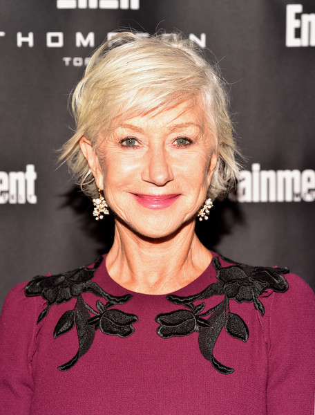 Helen Mirren went playful with this mussed-up 'do at the Entertainment Weekly Must-List party.