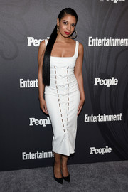 Susan Kelechi Watson was sexy and chic in a form-fitting LWD at the Entertainment Weekly and People New York Upfronts.