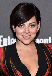 Krysta Rodriguez opted for a short side-parted 'do when she attended the 2016 Entertainment Weekly & People Upfronts party.