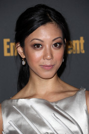 Brittany Ishibashi complemented her elegant outfit with a casual ponytail when she attended the Entertainment Weekly pre-Emmy party.