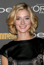 Caitlin Fitzgerald wore a super-cute curled-out bob when she attended the Entertainment Weekly pre-Emmy party.