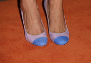 Molly Tarlov wore an adorable pair of pink and blue cap-toe pumps to the Entertainment Weekly pre-Emmy party.