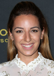 Vanessa Lengies looked youthful wearing her hair in a half-up style at the Entertainment Weekly pre-Emmy party.