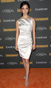 Brittany Ishibashi looked downright elegant in an embellished silver cocktail dress at the Entertainment Weekly pre-Emmy party.