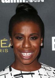 Uzo Aduba attended the Entertainment Weekly pre-Emmy party wearing a cute top knot.