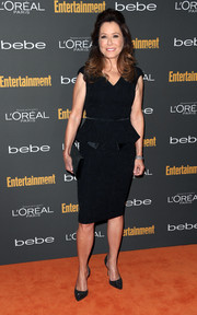 Mary McDonnell looked classic and elegant in a peplum LBD during the Entertainment Weekly pre-Emmy party.