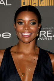 Gabrielle Union was a classic beauty at the Entertainment Weekly pre-Emmy party with this sleek center-parted ponytail.