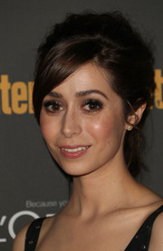 Cristin Milioti sported a retro-chic ponytail when she attended the Entertainment Weekly pre-Emmy party.