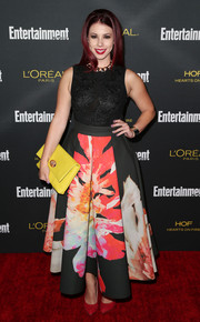 Jillian Rose Reed looked classy in a textured black top by Forever Unique at the Entertainment Weekly pre-Emmy party.