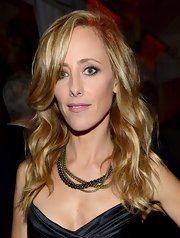 Kim Raver paired an edgy layered chainlink necklace with her little black dress at the Entertainment Weekly Pre-SAG Party.
