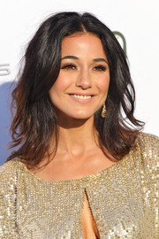 Emmanuelle Chriqui wore her hair in feathery layers at the 2017 EMA Awards.