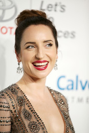 Zoe Lister Jones swept her locks back into a loose, high bun for the EMA Awards.