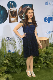 Carly Rose Sonenclar's deep navy lace frock looked totally lovely and age appropriate on the young singer.